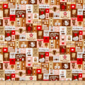 Cosmo Breakfast Club II Coffee Signs Patch Sheeting Brown/Red