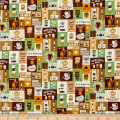 Cosmo Breakfast Club II Coffee Signs Patch Sheeting Brown/Green