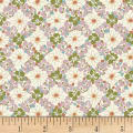 Quilt Gate Ruru Bouquet Florette Floral Lattice Pink/Sage