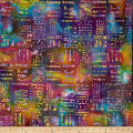 Color Crystals Abstract Batik Bright Multi