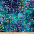Color Crystals Abstract Batik Purple/Blue/Green