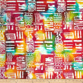 Color Crystals Abstract Batik White/Multi