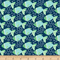 Sea Buddies Fish with bubbles Navy