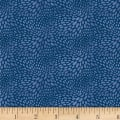 Blank Quilting Tessellations Raindrop Texture Navy