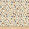 QT Fabrics Dan Morris Lost World Dino Tracks Cream