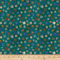 QT Fabrics Dan Morris Lost World Dino Tracks Teal
