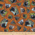 QT Fabrics Mark Keathley Nature's Bears Framed Black Bears Brown