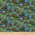 QT Fabrics Mark Keathley Nature's Bears Stream Scenic Multi