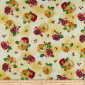 QT Fabrics  Danielle Spaced Floral Yellow