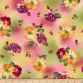 QT Fabrics  Danielle Spaced Floral Pink