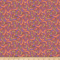 QT Fabrics  Echo Scroll Purple