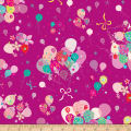 QT Fabrics Let's Celebrate Bunch Of Balloons Purple