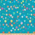QT Fabrics Let's Celebrate Balloons Turquoise