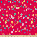 QT Fabrics Let's Celebrate Balloons Red