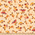 QT Fabrics Moose On The Loose Moose Toss Oatmeal