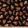 QT Fabrics Moose On The Loose Moose Toss Black