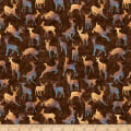 QT Fabrics Timberland Trail Animal Silhouettes Brown