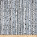 QT Fabrics Timberland Trail Birch Trees Blue