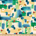 QT Fabrics Delia Watercolor Patches Blue