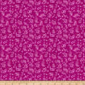 QT Fabrics Fine Tuning Music Notes Fuchsia