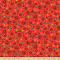 QT Fabrics Wild Side Tossed Geometrics Dark Orange