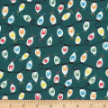 Cloud 9 Fabrics Noel Shine Brightly Organic Green