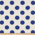 Cotton Linen Polka Dot Royal