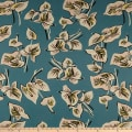 Cotton Linen Floral Light Pink/Light Blue