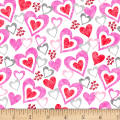 Hearts of Love Hearts in Hearts White/ Multi