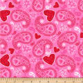 Hearts of Love Paisley Pink