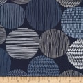 Cloud 9 Organic Modern Abstractions Canvas Stepping Stones Navy/White