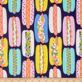 Alexander Henry Fabrics Hot Dog Navy