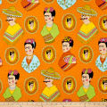 Alexander Henry Fabrics Fantastico Frida Orange
