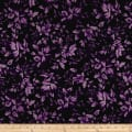 Maywood Studio Aubergine Tonal Leaves Deep Blackberry