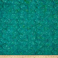 Maywood Studio Coastal Chic Batiks Wavy Flowers Dark Teal