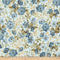 Maywood Studio English Countryside Focal Floral Light Blue
