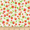 P&B Textiles Fresh Picked FarmStand Strawberries Red