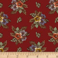 P&B Textiles A Soldier's Quilt Floral Red
