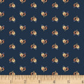 P&B Textiles A Soldier's Quilt Buds Navy