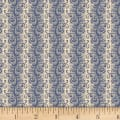 P&B French Paisley Scroll Blue