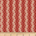 P&B French Paisley Scroll Red