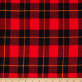 Windstar Twill Flannel Plaid Black/Red/Gold
