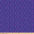 Northcott X's and O'S Wild Orchid Skitttles Blue/Purple/Multi