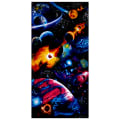 "Timeless Treasures Solar System Bright Solar System 24"" Panel Midnight"