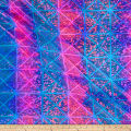 Tie Dye Square Hologram Spandex Turquoise/Pink
