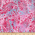 Gypsy Batik Fern with Dots Pink