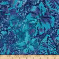 Leaf and Vine Batik Tropical Leaf Blue/Turquoise