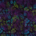Leaf and Vine Batik Tropical Leaf Navy/Green/Aqua