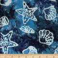 Ocean Grove Batik Shells Blue/Multi/White