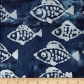 Ocean Grove Batik Small Fish Navy/White